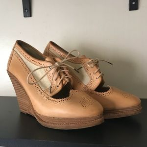Rag & Bone Salford Baroque Leather Oxford Wedge 41